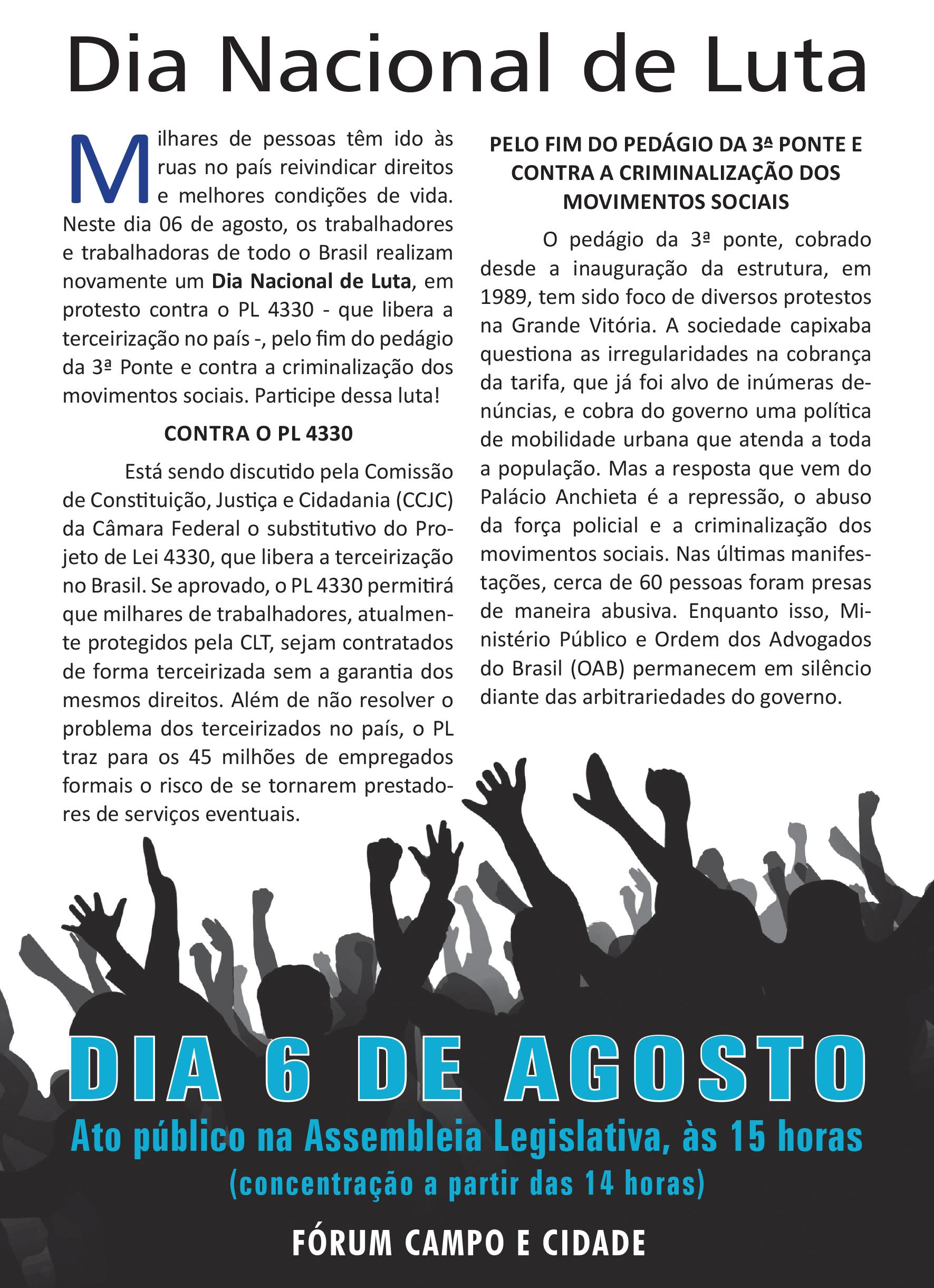 Panfleto Dia Nacional de Luta 06