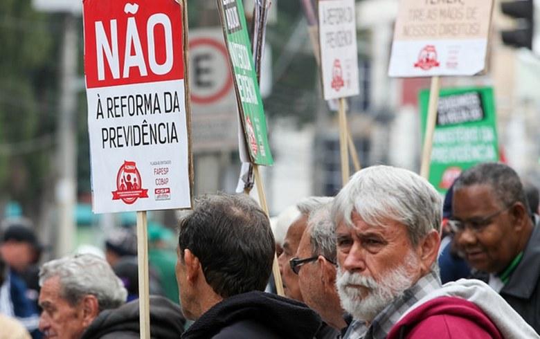 reforma previdencia cartaz NO